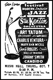 Stan Kenton Tour Newspaper Advertisement